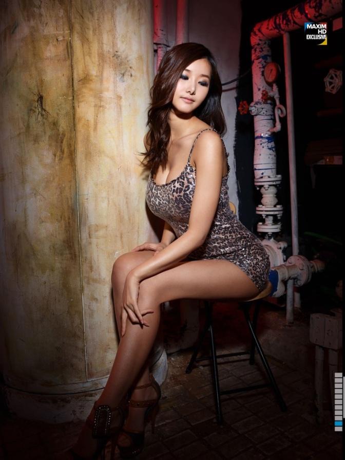 韩国美女。 韓宋怡 한송이 [gif]