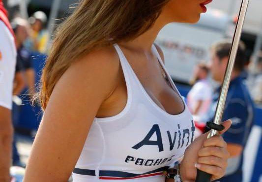 赛车美女。 西班牙 Spain
