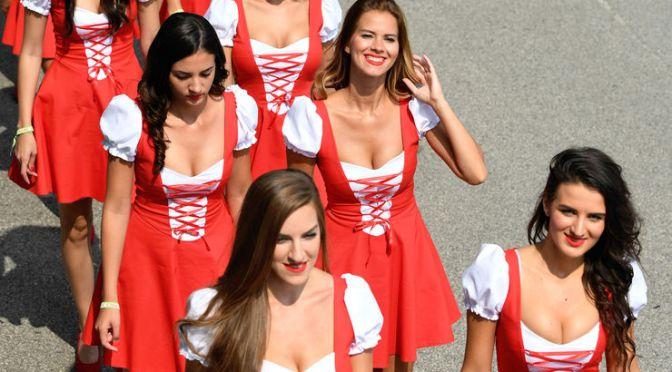 赛车美女。 匈牙利 Hungary