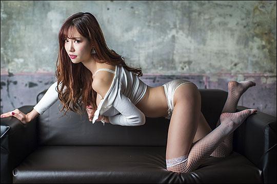 韩国美女。 韩敏英 한민영 [gif]