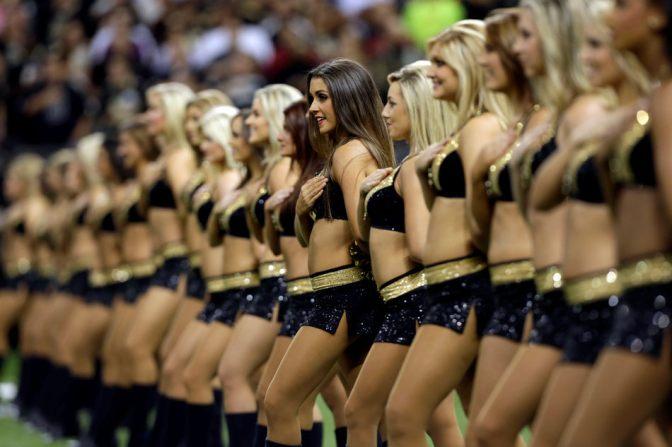 啦啦队美女。 新奥尔良圣徒 New Orleans Saints