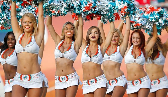 啦啦队美女。 迈阿密海豚 Miami Dolphins