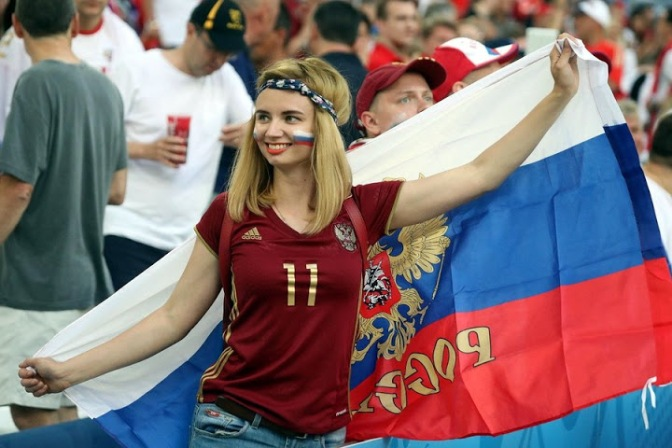 俄罗斯美女 [11p]。足球粉丝 斯拉夫优良基因