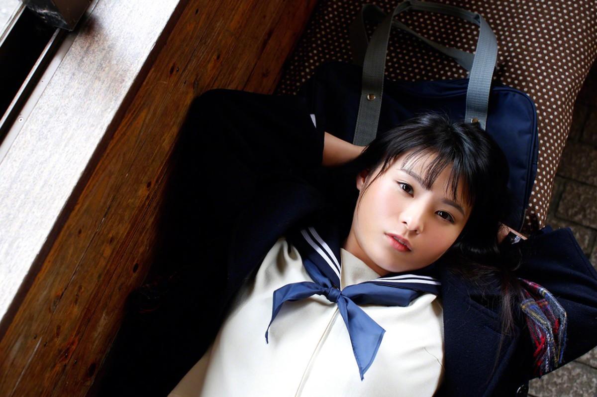 服装美女 [13p]。星名美津紀 Hoshina Mizuki 高中水手服