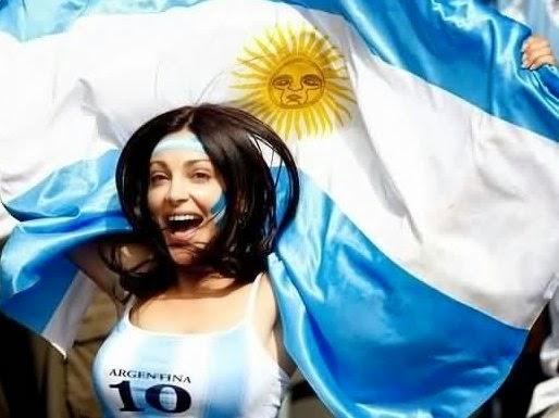足球美女 [9p]。阿根廷球迷